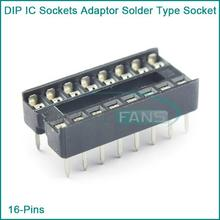 10PCS Black 16-Pins DIP IC Sockets Adaptor Solder Type Socket