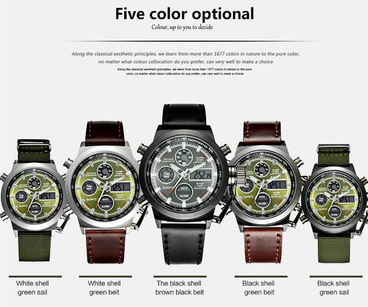 Herrenuhren Digitale Uhren Mode Herrenuhr Amst 3003 Uhren Sport Dive 50 Mt Led Military Uhren Echte Quarz Digitaluhr Relogio Masculino Geschenke