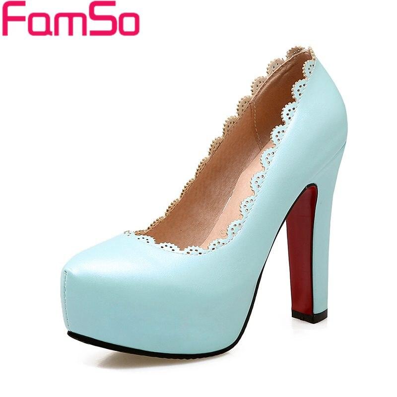 Big Size 34-43 2017 new Fashion Women Pumps Blue High Heels Single Shoes Designer Office LadiesD Dress Platforms Pumps PS2715<br><br>Aliexpress