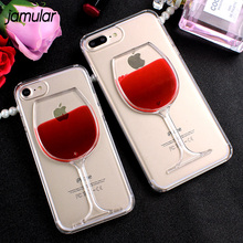 Buy JAMULAR Red Wine Cup Liquid Transparent Case iPhone X 8 7 Plus 5s SE Hard Phone Cover iPhone 6 6s 7 8 Plus Fundas Capa for $2.52 in AliExpress store