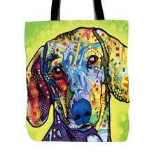 Cute Tote Bags Customize Art Pet Dogs Shopping Handle Bag Large Capacity Women Canvas Beach Bags Tote Bags For Travel