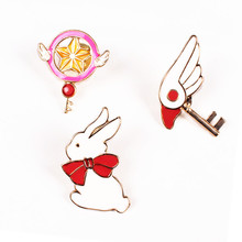 Japanese cartoon design star staff uniforms of bird head crest lovely campus style brooch brooch rabbit badge wholesale