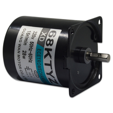 68KTYZ AC motor 220V motor micro slow speed machine 28W permanent magnet synchronous motor small motor