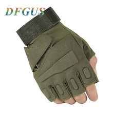 2017 blackhawk hell storm usa special forces tactical gloves slip outdoor Men fighting fingerless gloves Gym Gloves Mitten PC003(China)