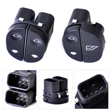 DWCX Driver + Front Passenger Side Electric Power Window Switch 96FG14529AC 96FG14529BC for Ford Fiesta Fusion KA Puma Tourneo(China)