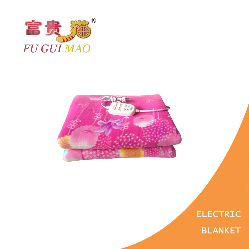FUGUIMAO Electric Blanket Double Manta Electrica 150x180cm Electric Heating Blanket Plush Heated Blanket Double Control Switch<br>