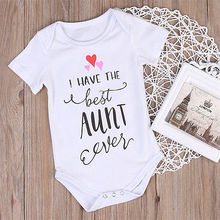 Newborn Baby Boys Girls Clothes jumpsuit  best Aunt Bodysuit Cotton Summer Toddler Little girl boys Clothes overalls