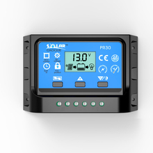 10A 20A 30A 12V/24V LCD PWM Solar Panel Charge Regulator Battery Controller with two USB 5V Charger Backlight(China)