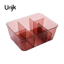 Urijk Makeup Organizer Transparent Cosmetics Storage Box Dresser Small Box Bathroom Desktop Skin Care Products Finishing Box(China)