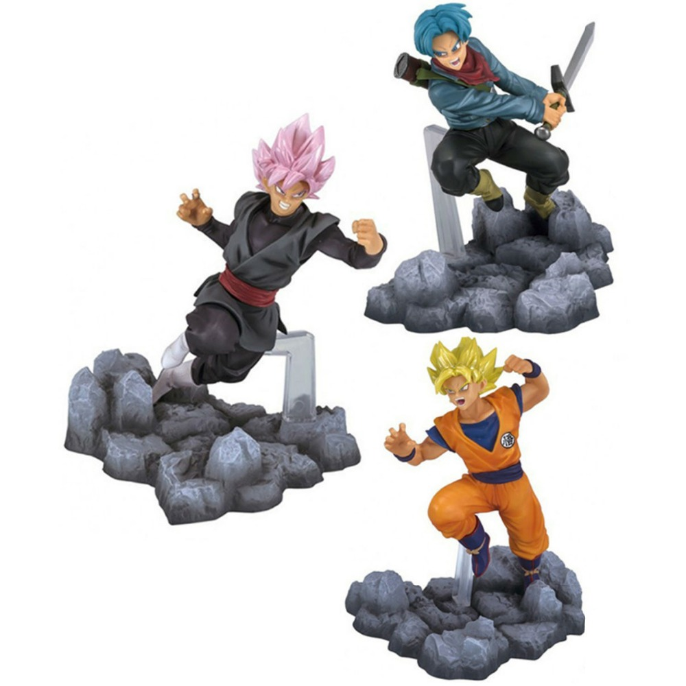 3pcs Set Dragonball Super Figures Gokou Black Son Gokou Trunks Soul x Soul Anime Figure Free Shipping<br>
