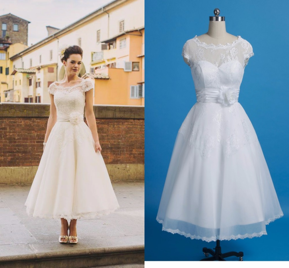 Country wedding dresses plus size image collections dresses online buy wholesale country style wedding dresses plus size from vintage tea length lace wedding dresses ombrellifo Images