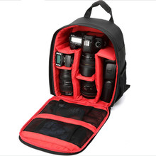 Video Photo Digital Camera Shoulders Padded Backpack Bag Case Waterproof Shockproof Small Bags w/ Rain Cover for Canon Nikon SLR