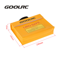 GOOLRC 24 * 18 * 6.5cm Golden High Quality Glass Fiber RC LiPo Battery Safety Bag Safe Guard Charge Sack(China)