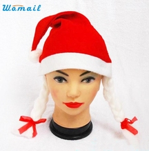 Adult Women Men Santa Claus Red Cap Christmas Xmas Party Hats Elegant Nobility Sep 13