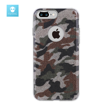 FSHANG for iphone 7 Case 3in1 Authentic Leopard Army Phone Cases Back Cover for Apple iphone 7 for iphone 7 Plus Case Luxury