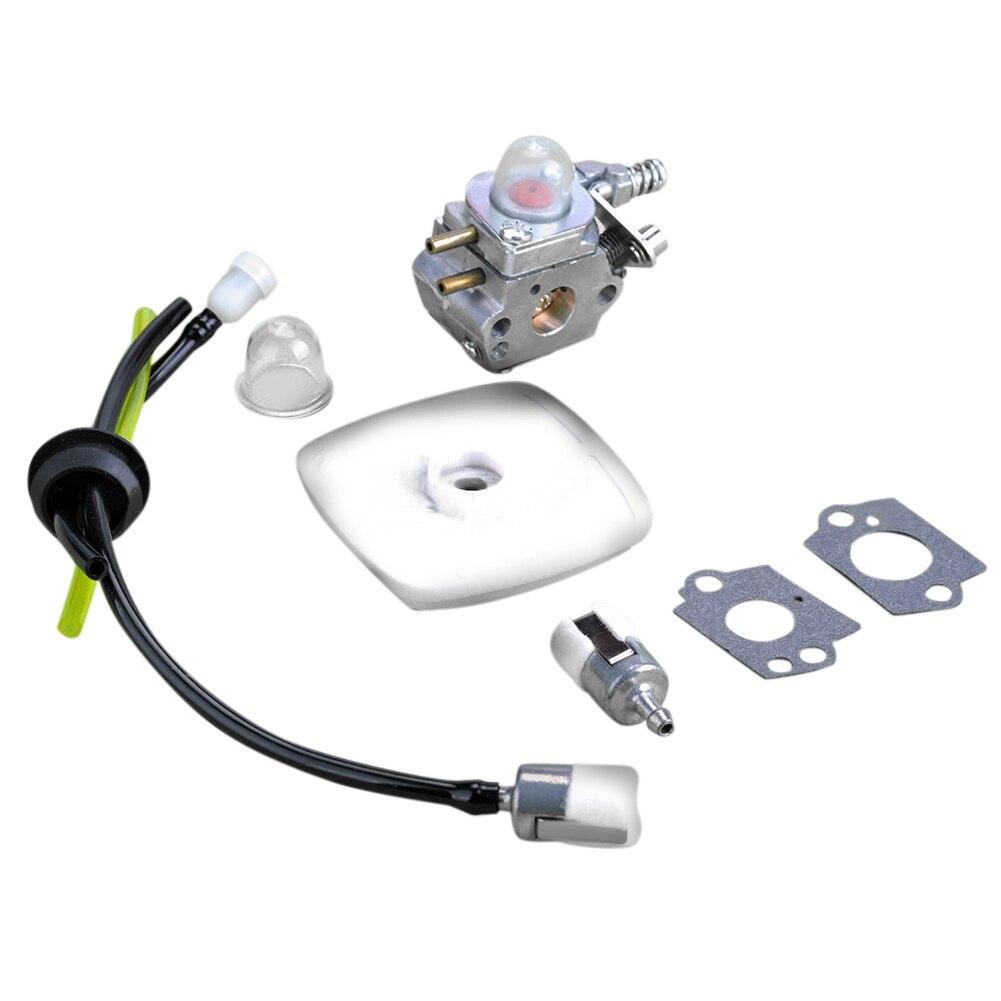 9PCS Carburetor For Type C1U-K52 GT2000 GT2100 SHC1700 SRM2100 PAS2000 Carb Set Fuel filter  Gasket Fuel line kit Spark plug<br><br>Aliexpress