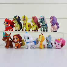 12pcs/lot Princess Pet Palace Snow white's Puppy PVC Collection Toy Figure Action Model Doll 2.5-4.5cm(China)