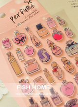 1Pcs Funny French Perfume Dimensional Decorative DIY Stickers For Book Scrapbooking Diary Planner Photo Album Decor