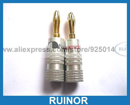 6 x Nakamichi Gold Plated Speaker Banana Plug Connector<br><br>Aliexpress