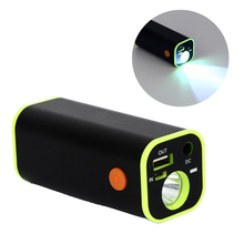 USB 18650 Battery Charging Case Powerful Rechargeable Flashlight Torch Portable Power Bank Case with Cloth bag
