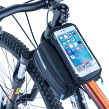 "Buy Roswheel Bicycle Frame Front Head Tube Waterproof Bike Bag Double Pouch Touchscreen Cycling 5.5"" Cell Phone Bike Accessories for $12.21 in AliExpress store"