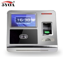5YOA F7FY Face Facial Fingerprint TCP IP Attendance Access Control Biometric Time Clock Recorder Employee Electronic Reader