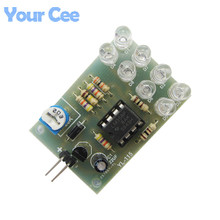 5 pcs LM358 Breathe Light Lamp Flicker 8pcs 5MM Blue LED DIY Electronic Kit Suite Electronica Components Supplies(China)