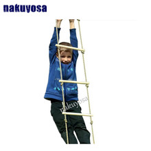 Kids Play Outdoor Indoor Floor Wood Rope Ladder Toys Playground Games For Children Climbing Swing Wooden 5 Rungs PE Rope Ladder(China)