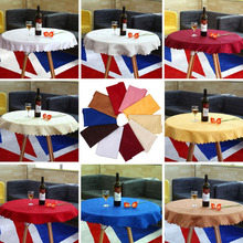 2017 Hot 1M Round Tablecloth Cover Elegant Chic Flower Pattern Wedding Banquet 10 Colors