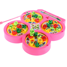 Go Fishing Game Electric Rotating Magnetic Singing Fish Child Educational Toy(China)