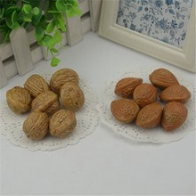 10pcs 3cm Walnut Mini Artificial Fake Fruits and Vegetables Berries Flowers Fruit Toys For Wedding Christmas Tree Cake Decoratio
