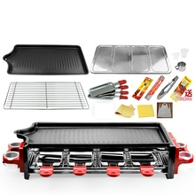 121 Multifunctional Double Layers Smokeless Electric Pan Grill BBQ Grill Raclette Grill Electric Griddle
