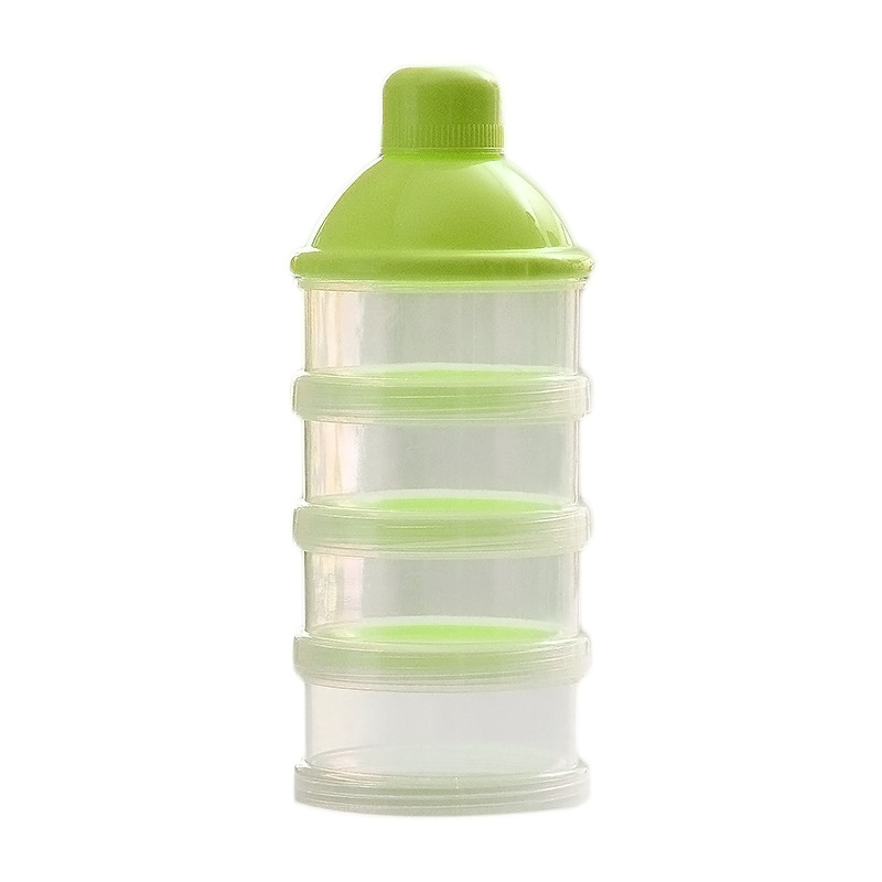 Portable Infant Milk Powder Container 4 Layers Moistureproof Baby Feeding Candy Storage Container FJ88