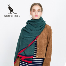 Scarves For Women Scarf Famous Brand Cape Gift Plaid Winter Warm Pashmina For Dress Luxury Brand 2017 Scarfs wool cashmere Shawl(China)