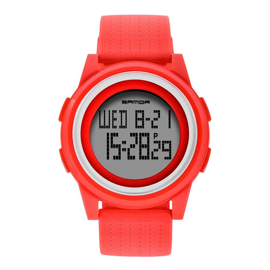 SANDA Fashion Women Sports Watches Waterproof 30m Ladies Ultra Thin LED Digital Watch Swimming Diving Hand Clock Montre Femme 25