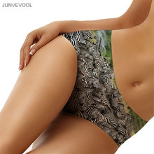 Diamond Panties Fashion Women Sexy Panties 3D Knickers Beachwear Zebra Group Print Lingerie Underwear Seamless Briefs Hot Sale