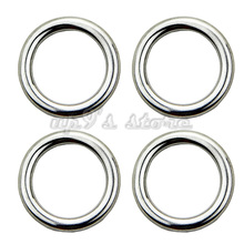 Free Shipping 10PCS 5x25MM Forged AISI 316 Stainless Steel Welded Round Ring Boat Hardware Rigging Hardware