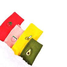 2017 Cotton Cute Fruit Print Women's Socks Meias Retro Embroidery Long Colorful Funny Socks Women Girls Multicolor Socks(China)