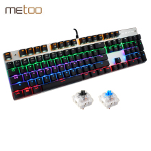 New Rainbow Colorful LED Backlight Mechanical Keyboard Professional Advanced Gaming Keyboard El Teclado Gamer Game Keyboard(China)