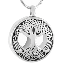 IJD9436 Hot Sale Stainless Steel Tree Of Life Cremation pendant Hold Human/pet Ashes Keepsake Memorial Urn Jewelry For women/Men