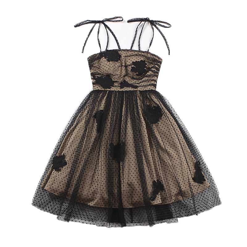 LE PALAIS VINTAGE Handmade Lace Patchwork Ball Gown Dress Classic High Rise with Removable Petticoat Chest Pad 2019 Spring