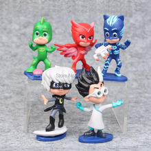5pcs/1lot Cartoon Masked Heroes 7-9cm Toys Action Figure Toy For Children Kids Christmas Gift(China)