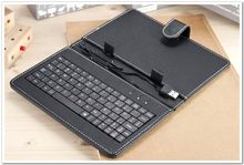 "7 8 9 9.7 10.1 inch Universal PU Leather Case Cover Micro USB Keyboard for 7"" 8"" 9"" 9.7"" 10.1"" Android Tablet Russian keyboard"