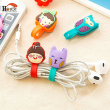 CUSHAWFAMILY cute cartoon animal Press buckle bobbin winder ear mechanism storage line multi-function receive Bag clip
