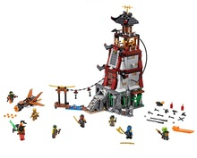 CHINA BRAND bricks toy Building Blocks Compatible Lego Ninjago 70594 Lighthouse Siege - g.shaw Store store