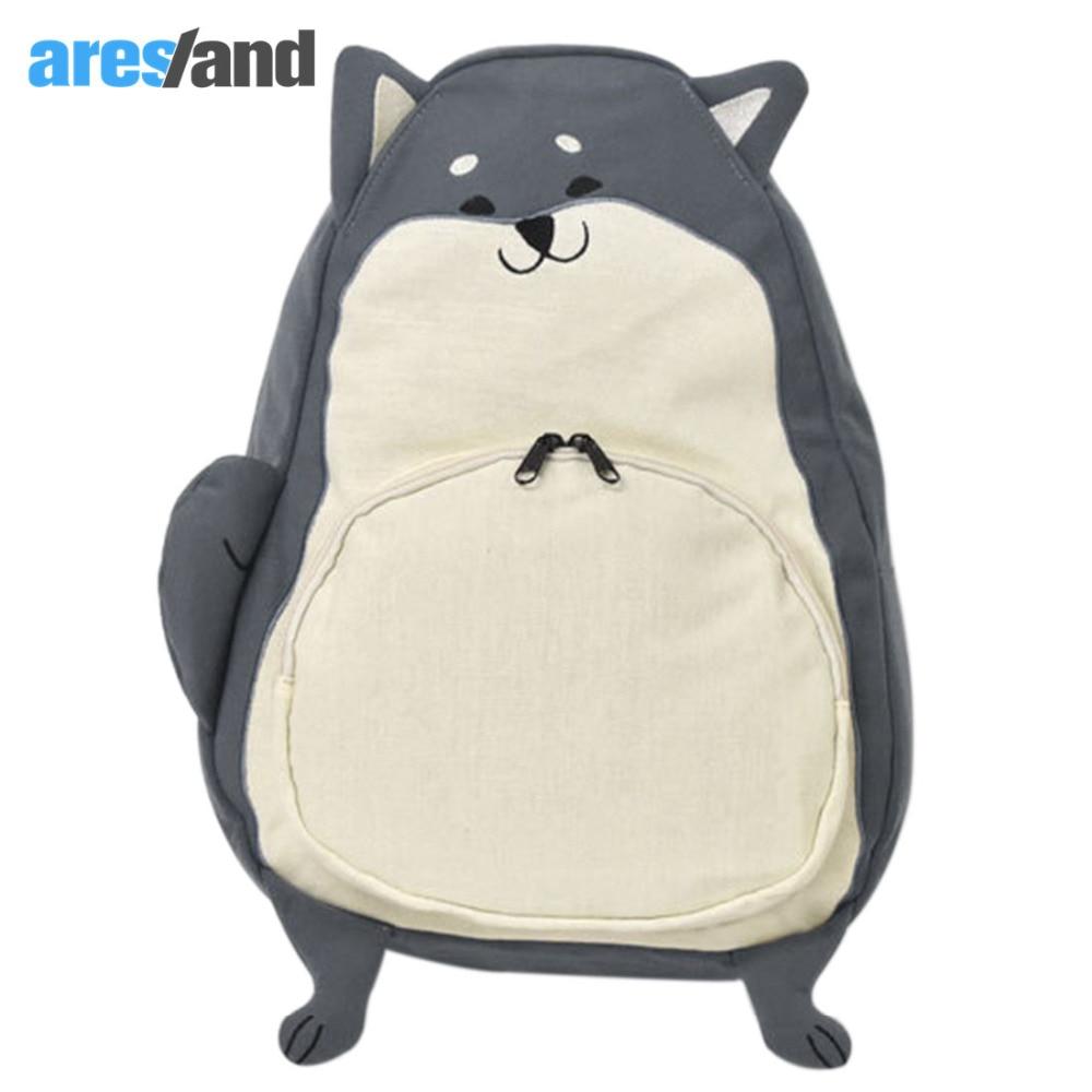Aresland Canvas Bkacpack for Teenage Girls Cartoon Anime Backpack Cute Shiba Inu Shoulders Bag School Bag for Girls Large Space<br><br>Aliexpress
