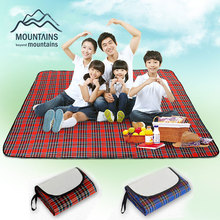 180x150cm Waterproof Outdoor Foldable Beach Picnic Camping Multiplayer Moistureproof Mat Blanket Baby Climb Plaid Blanket(China)