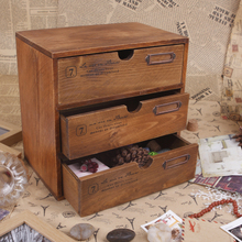 Table Stand Vintage Small Storage Cabinet Sundries Jewelry Chest of Drawers(China)