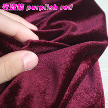 Purplish Red Silk Velvet Fabric  Velour Fabric  Pleuche Fabric  Clothing Fabric  Evening Wear  Sports wear  Sold By The Yard