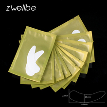 50pairs/pack 6.2x2.9cm New Paper Patches Eyelash Under Eye Pads Lash Eyelash Extension Paper Patches Eye Tips Sticker Wraps